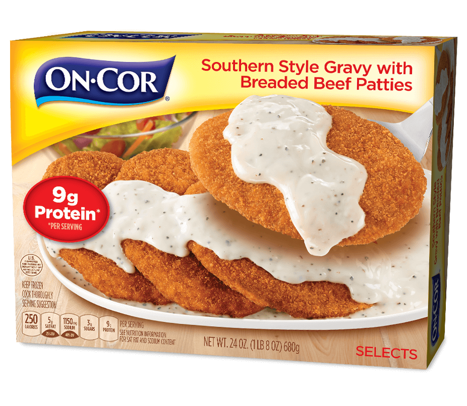 Southern Style Gravy with Breaded Beef Patties